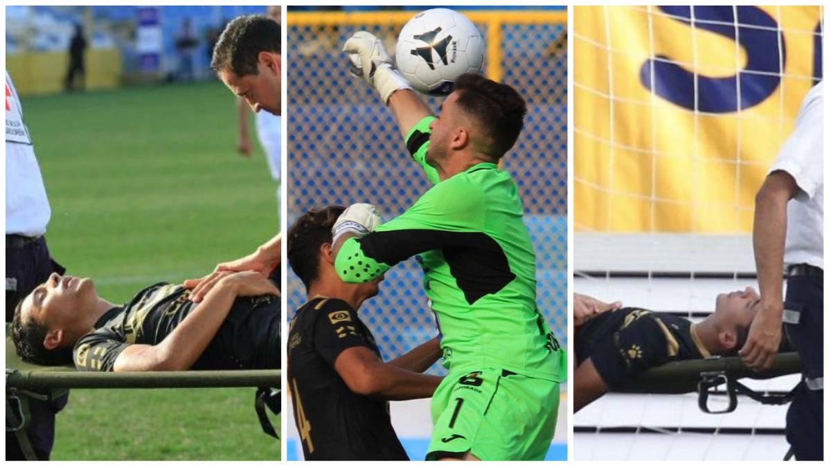 Al hospital! Aparatoso choque en el Fútbol de El Salvador - AS USA