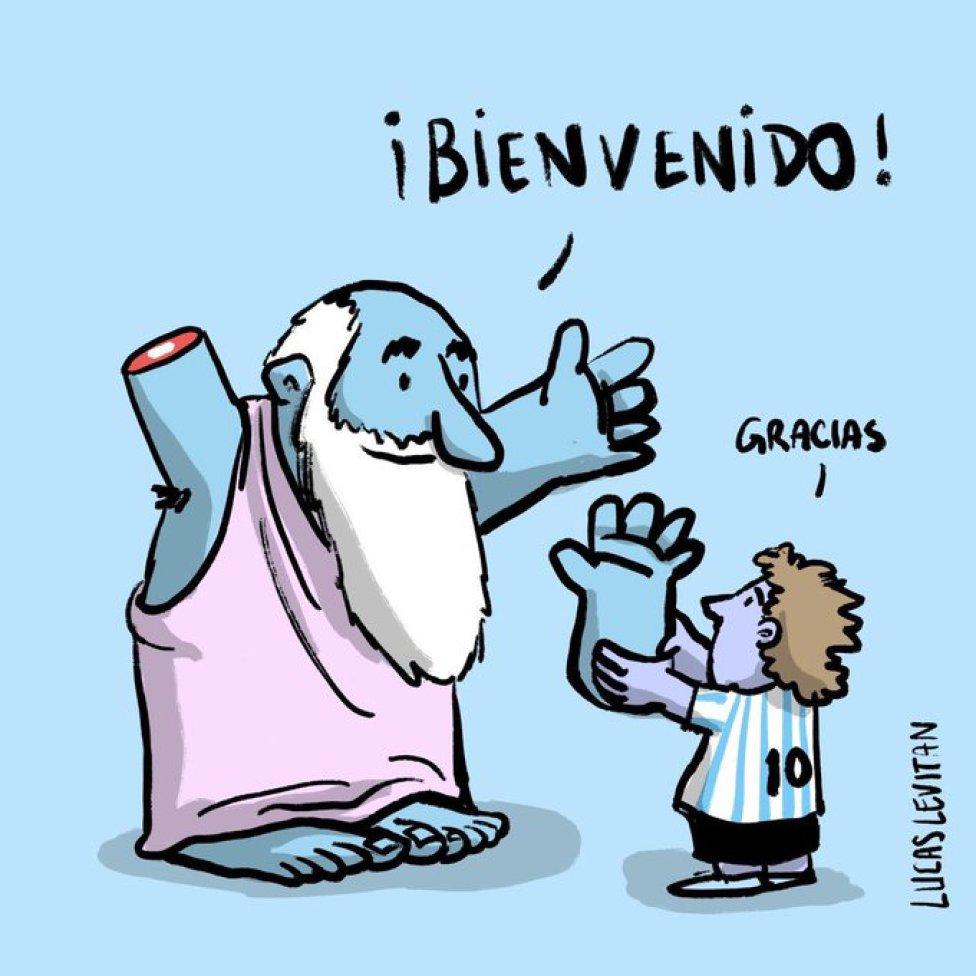 Grandes ilustraciones en tributo a Diego Armando Maradona - AS USA